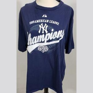 Men's 2009 NY Yankees Short Sleeve Tee sz XL